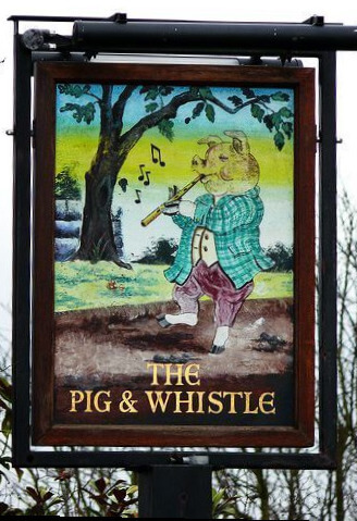 The phrase 'Pig and whistle' - meaning and origin.