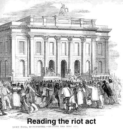 The meaning and origin of 'Read the riot act'.